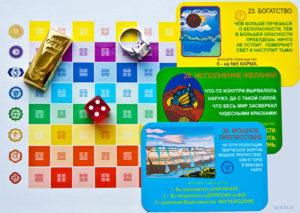 Карточки богатство, исполнение желаний и препятствие в игре Лила Чакра