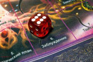 Игровой кубик с цифрой 6